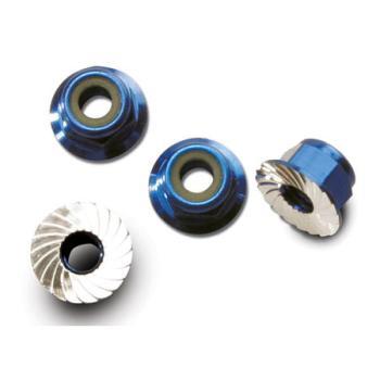 1747R Traxxas Nuts, 4mm (4) Blue Alum:VXL