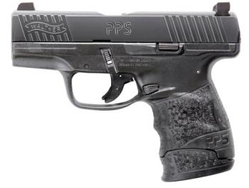 "Walther 2805961TNS PPS M2 9mm Luger 3.18"" 7+1 Black Black Polymer Grip Nigh"