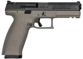 "CZ-USA  CZ 91541 P-10 Full Size 9mm Luger 4.50"" 19+1  Black Nitride Side Flat Dark Earth"