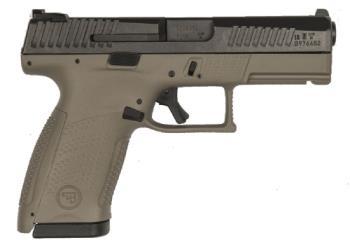 "CZ-USA 91532 CZ P-10 C 9mm Luger 4""  Black Nitride Slide Flat Dark Earth Polymer Grip"
