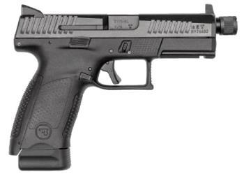 "CZ-USA  P-10 C Suppressor Ready 9mm Luger 4.61"" 17+1 Black Polymer Grip Reversi 91533"