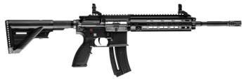 """Heckler & Koch 81000402 HK 416 D Rimfire 22 LR 16.10"""" 10+1 Black Retractable Stock"""