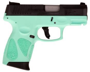 "Taurus 1G2C93112C G2C  9mm Luger 3.25"" 12+1 Cyan Black Carbon Steel Slide Cyan P"