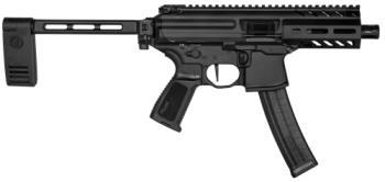 "Sig Sauer PMPX-4B-9 MPX K  9mm Luger 4.50"" 30+1 Black Hard Coat Anodized Black Pol"