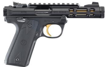 Ruger 43927 Mkiv 22lr Target Wood Grip 5.5 In