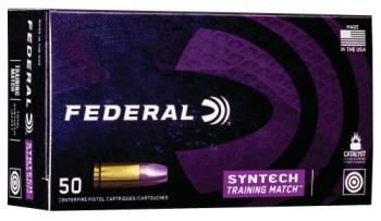 Federal AE9SJ4 Total synthetic 9mm 124gr training/match 50rd ammunition