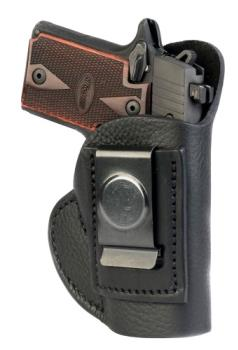 1791 Gunleather SCH-1-NSB-R Smooth Concealment Holster IWB  Black Right Hand Size 1