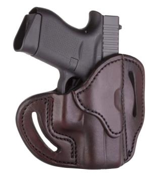 1791 Gunleather BHC-SBR-R Compact Belt Holster Signature Brown Right Hand OWB