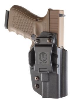 1791 Gunleather TAC-IWB-GLOCK-BLK-R Kydex Holster Glock 9 and 40 holster IWB Right Hand Black
