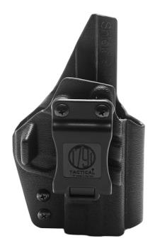 1791 Gunleather TAC-IWB-SHIELD-BLK-R 1791 Kydex IWB holster for Smith Shield pistols Right Hand Black