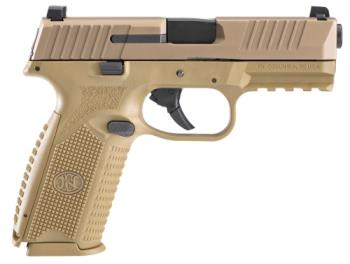 FN 66-100489 509 NMS 9mm 4 17 Flat Dark Earth FDE
