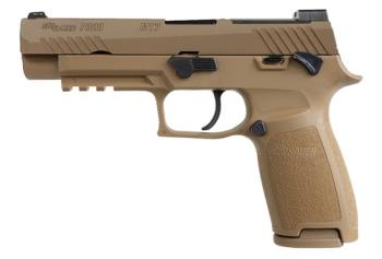 "Sig Sauer 320F-9-M17-MS-MA P320 M17 *MA Compliant 9mm Luger 4.70"" 10+1 Coyote PVD Co"