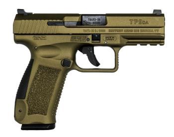 "Century Arms HG4873B-N TP9DA  9mm Luger 4.07"" 18+1 Burnt Bronze Cerakote Burnt Bronze"