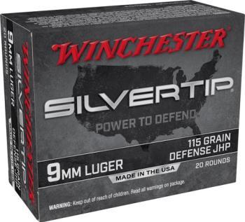Winchester W9MMST Super-X  9mm Luger 115 gr Silvertip Hollow Point 20 Bx/ 1