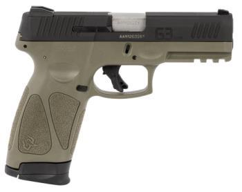 """Taurus  1G3941O G3  9mm Luger 4"""" 15+1 17+1 OD Green Matte Black Steel Slide Black"""