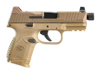 "FN 66-100780 509 Compact Tactical 509C 9mm FDE Optic Cut Suppressor Height Night Sights  4.32"" Threaded Barrel 12,24 Rounds"