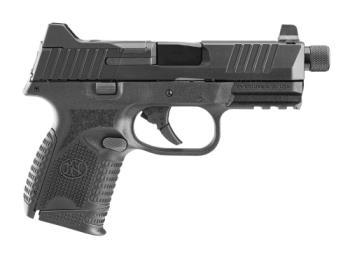 """FN 66-100782 509C Tactical 9mm Luger 4.32"""" 15+1 12+1 24+1 Black Black Interchange"""
