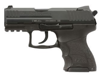 """Heckler & Koch 81000545 P30SK V3 SA/DA 9mm Luger 3.27"""" 13+1,10+1 (2) Black Black Interchange"""