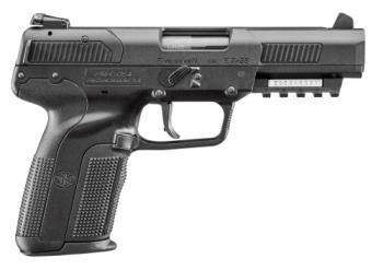 """FN 3868929354 Five Seven 5.7x28mm 4.80"""" 20+1 Black Black Polymer Grip 2 20rd"""