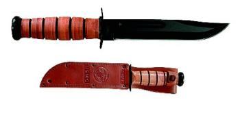 Ka-Bar Knives 1217 Usmc Fighting Knife With Sheath