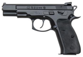 "CZ-USA 91136 CZ CZ 75 Omega 9mm Luger 4.60"" Black Black Polymer Grip"