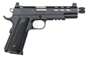 "Dan Wesson Firearms 01885 Discretion 45 ACP 5.70"" 8+1 Black Black G10 Grip Suppressor Re"