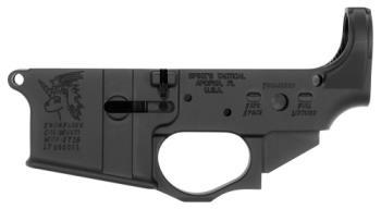 Spikes Tactical Spikes STLS030 Lower Snowflake AR Platform Multi-Caliber Black Hardcoat Anodized