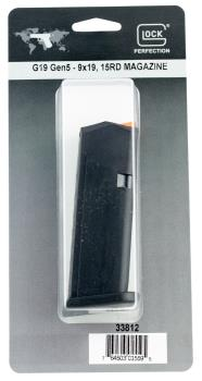 GLOCK  Glock 33812 G19 Gen5  9mm Luger 15rd Black Detachable