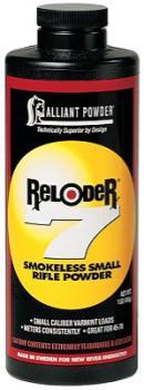 Alliant Powder POWARE71 Alliant 150652 Reloder 7 Smokeless Small Rifle Powder 1lb 1 Canister