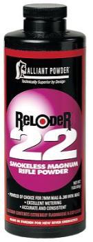 Alliant Powder POWARE221 Alliant 150836 Reloder 22 Smokeless Magnum Rifle Powder 1lb 1 Canister
