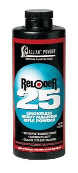 Alliant Powder ALLIANT150650 Alliant 150650 Reloder 25 Smokeless Heavy Magnum Rifle Powder 1lb 1 Canister
