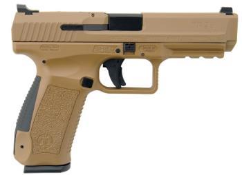 "Century HG4542DN TP9SA Mod.2 Single 9mm Luger 4.46"" 18+1 Desert Tan Interchangea"