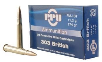Ppu PP303F Standard Rifle  303 British 174 gr Full Metal Jacket (FMJ) 20 Bx/ 10