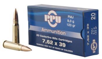 Ppu PP76239F Metric Rifle  7.62x39mm 123 gr Full Metal Case (FMC) 20 Bx/ 50 Cs