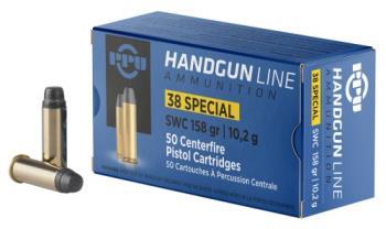 Ppu  PPH38SS Handgun 38 Special 158 gr Semi Wadcutter (SWC) 50 Bx/ 10 Cs