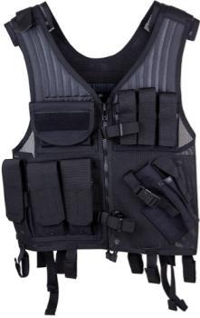 Blackhawk 30EV26BK Omega Elite Pistol Tactical Vest Nylon Mesh Adjustable Black