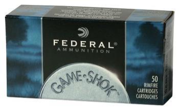 Federal 716 Game-Shok  22 LR 25 GR #12 Lead Bird Shot 50 Bx/ 50 Cs