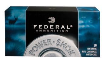 Federal 308A Power-Shok  308 Win 150 gr Jacketed Soft Point (JSP) 20 Bx/ 10 Cs