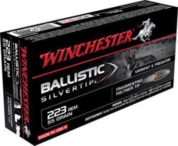 Winchester SBST223B Ballistic Silvertip  223 Rem 55 gr Polymer Tip 20 Bx/ 1