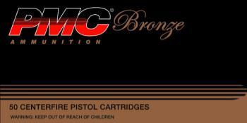 PMC  40D Bronze  40 S&W 165 gr Full Metal Jacket (FMJ) 50 Bx