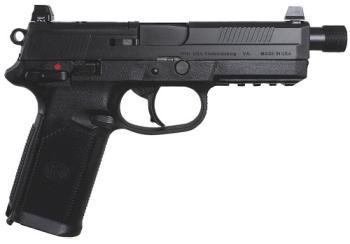 "66966 FNX-45 Tactical 45acp Black Optic Cut Suppressor Height Night Sights 5.3"" Treaded Barrel 15 Rounds"