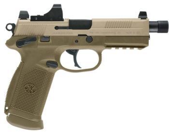 FN 66968 45 Tactical 45acp 15+1 FDE Threaded barrel optics ready semi auto pistol