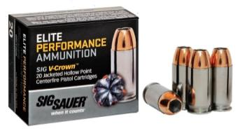Sig Sauer E9MMA2-20 Elite V-Crown  9mm Luger 124 gr Jacketed Hollow Point (JHP) 20 Rds