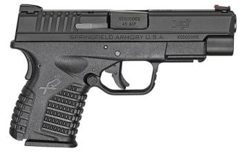 "Springfield Armory XDS94045B XD-S  45 ACP 4"" 5+1 Black Black Melonite Steel Slid"