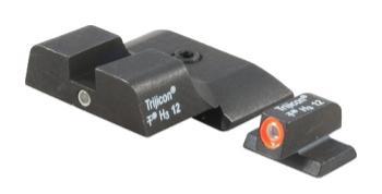 Trijicon 600722 HD Night Sights  S&W M&P Shield 3 Dot Green Tritium w/Orange Out