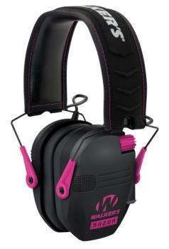 Walkers GWP-RSEM-PNK Razor Electronic Ear Muffs Pink 23dB reduction 2 AAA batt