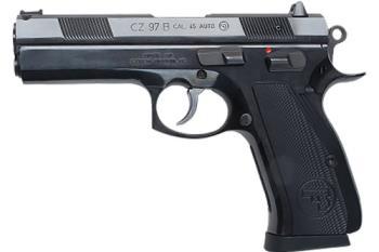 "CZ-USA 01401 97 B *CA Compliant 45 ACP 4.80"" 10+1 Black Black Aluminum Grip"