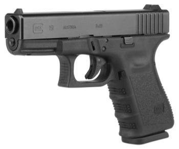 GLOCK UG1950203 19 Gen 4 Compact Interchangeable Backstrap 9mm