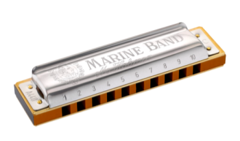 1896BX-BF Hohner Marine Band Harmonica - Bb