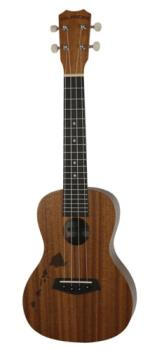 Islander Traditional soprano ukulele with mahogany top and Hawaiian islands engraving